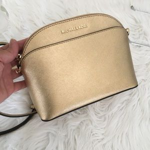 Michael Kors Emmy gold crossbody bag